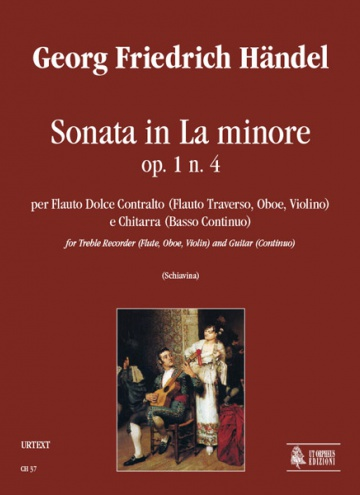 Sonata in A min Op. 1 No. 4 for Treble Recorder (Flute, Oboe, Violin) and Guitar (Continuo), de George Frideric Handel