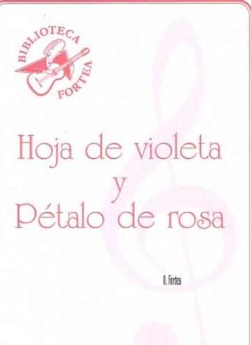 Hoja de violeta y pétalo de rosa