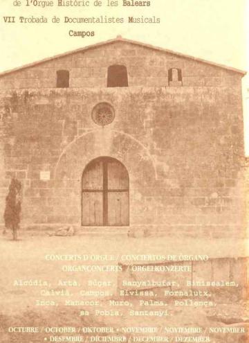 VII Simposium i Jorandes Internacionals de l'Orgue Historic de les Balears.