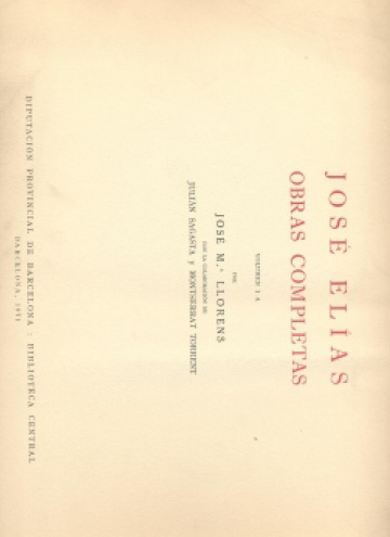 Complete Works, vol. IA