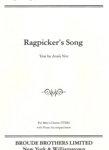 Ragpicker's Song (TTBB)