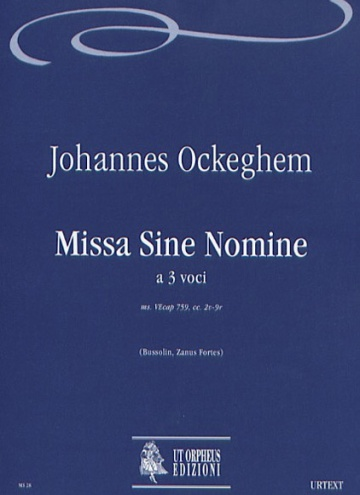 Missa sine nomine for 3 Voices, de Johannes Ockeghem