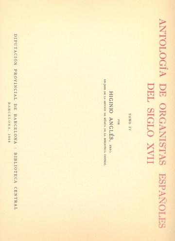 Antología de organistas españoles del siglo XVII - vol. IV