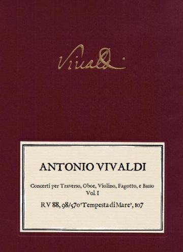 Tempesta di mare. Concerti per Traverso, Oboe, Violino, Fagotto, e Basso. Vol. 1