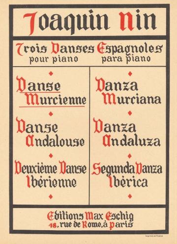 Trois Danses espagnoles pour piano (Murcienne)