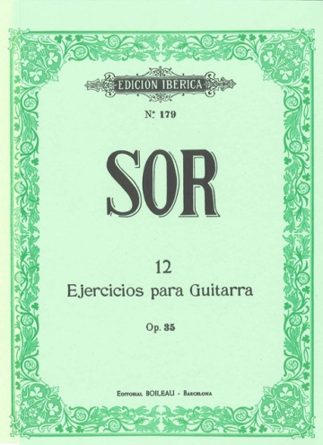 12 Exercises for guitar, op.35