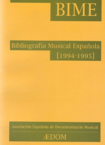 Spanish Musical Bibliography (1994-1995)
