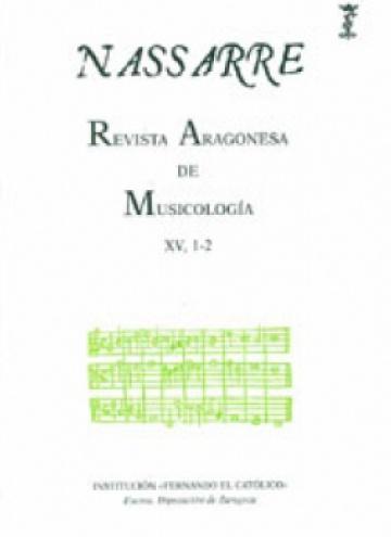 Nassarre. Revista Aragonesa de Musicología, XV, 1-2