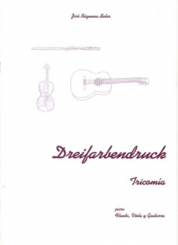 Dreifarbendruck, for flute, viola and guitar