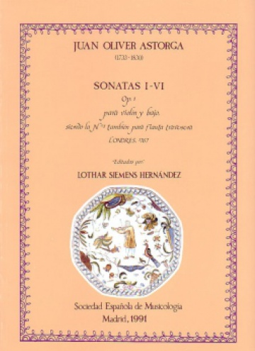 Six sonates for violin and bass