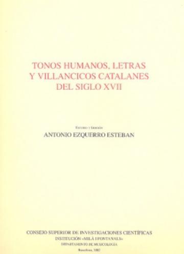 Tonos humanos, letras y villancicos catalanes del siglo XVII