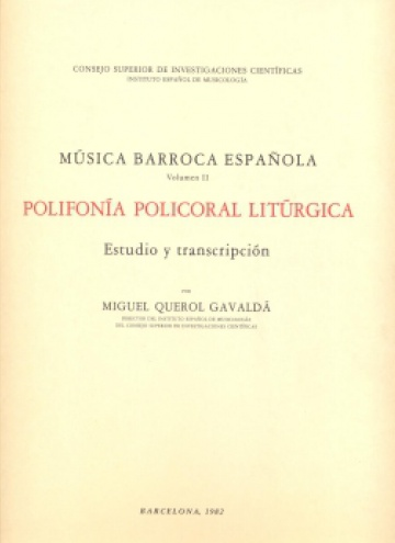 Música barroca española Vol. II - Polifonia Policoral Liturgica