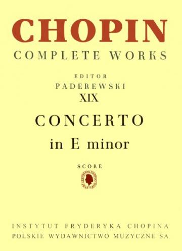 Concierto nº 1 en mi menor op 11 para piano y orquesta