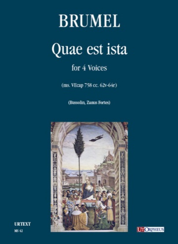 Quae est ista (ms. VEcap 758 cc. 62v-64r) for 4 Voices, de Antoine Brumel