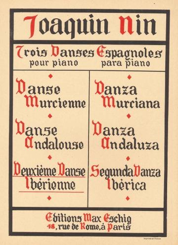 Trois danses espagnoles (Ibérienne)