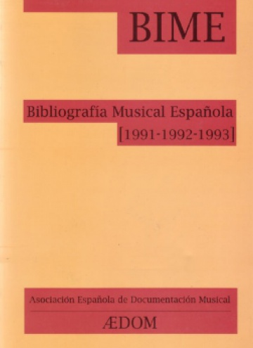 Spanish Musical Bibliography (1991-1992-1993)