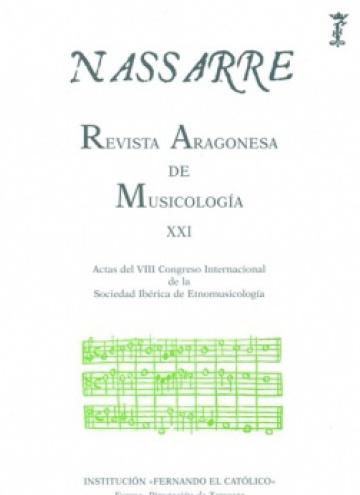 Nassarre. Revista Aragonesa de Musicología, XXI