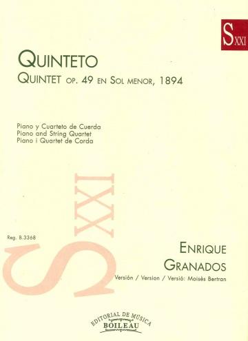Quintet op. 49 en sol menor, 1894