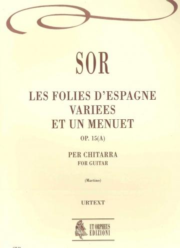 Les Folies d'Espagne variées et un Menuet op. 15(a) for guitar