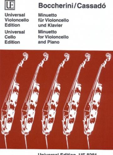 Minuetto para violonchelo y piano