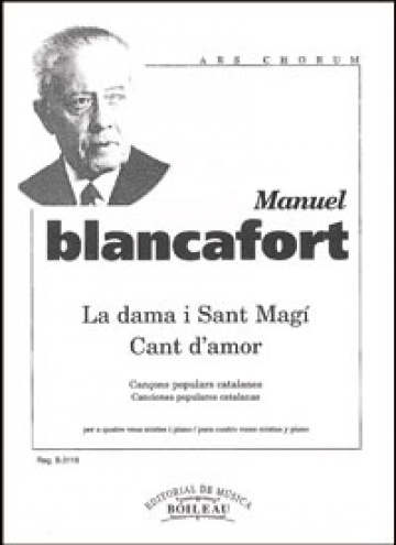 La dama i Sant Magí - Cant d'amor, by Manuel Blancafort