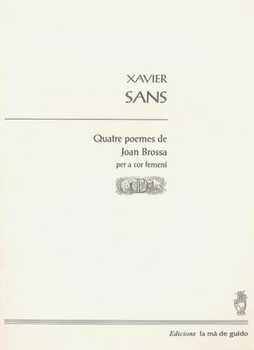 Quatre poemes de Joan Brossa