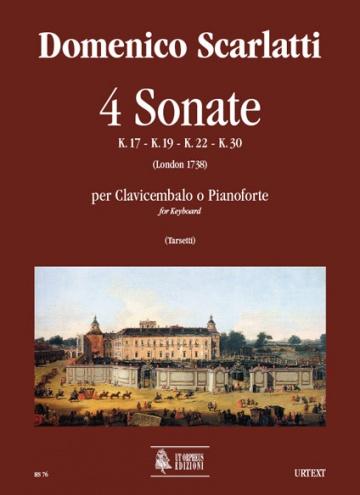 4 Sonatas (K. 17, 19, 22, 30) for Keyboard, de Domenico Scarlatti