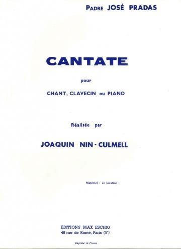 Cantata para voz y clavecín o piano