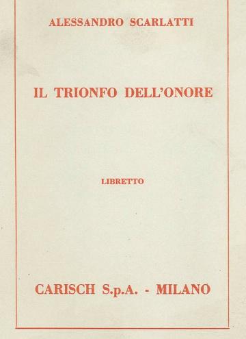 Il trionfo dell'onore (libreto)