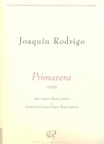 Primavera (soprano, flute and piano version)