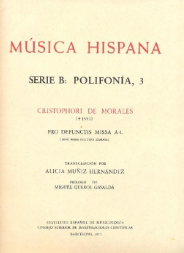 Cristophorii de Morales - Pro Defunctis missa a 4