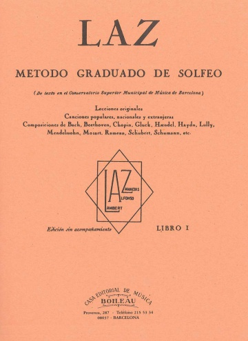 LAZ, Método de Solfeo Vol.1º, by Lambert/Alfonso/Zamacois