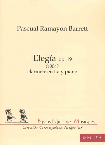 Elegía op. 19 (1984) for clarinet in A and piano
