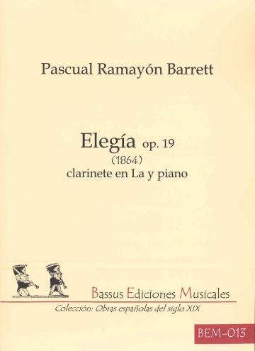 Elegía op. 19 (1984) per a clarinet en La i piano