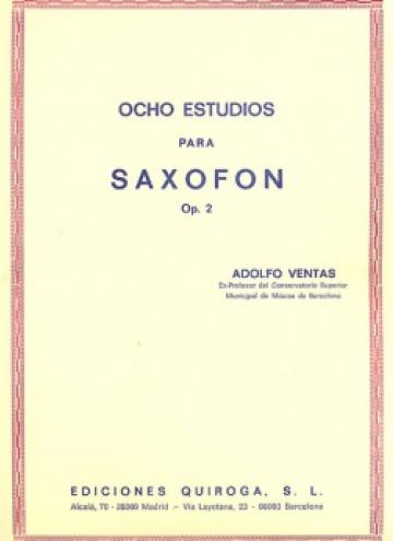 Ocho estudios para saxofón op. 2