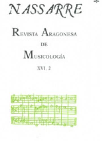 Nassarre. Revista Aragonesa de Musicología, XVI, 2