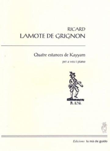 Quatre estances de Kayyam (veu i piano)
