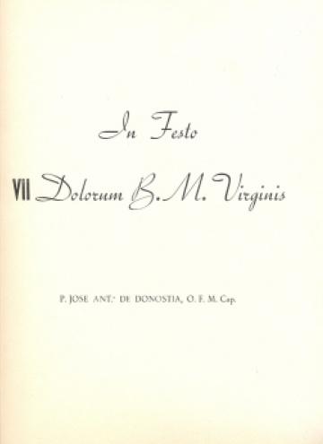 In Festo VII Dolorum B.M. Virginis