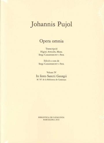 Opera Omnia. vol IV - In Festo Sancti Georgii