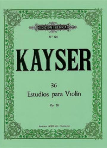 36 Estudios violín, de Heinrich Ernst Kayser