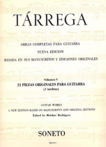 Guitar complete works vol. V (31 pieces for guitar)