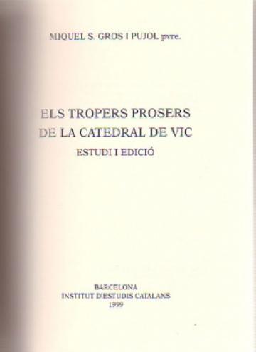 Tropers Prosers de la Catedral de Vic