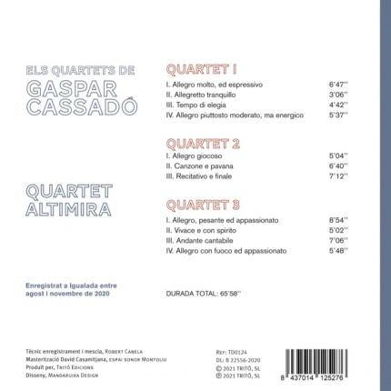 Quartet Altimira: Els Quartets de Gaspar Cassadó