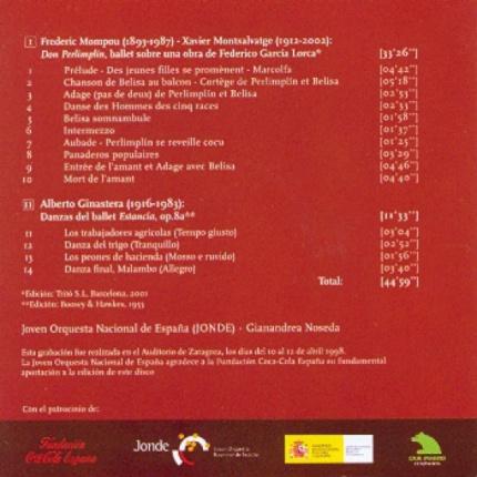 Mompou - Montsalvatge / Ginastera: Don Perlimplín - Estancia